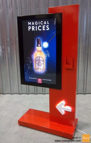 on target-digital signage-totem-multimedia-display-plv-metal