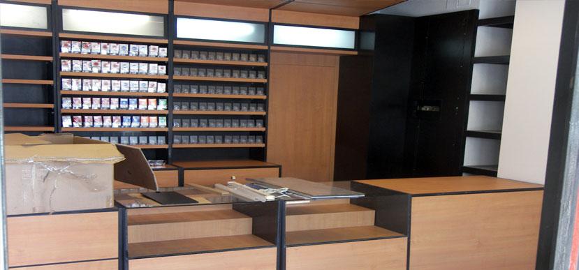 Instalaciones instalacin integral completa mueble adhoc - Mobiliario para estancos ...